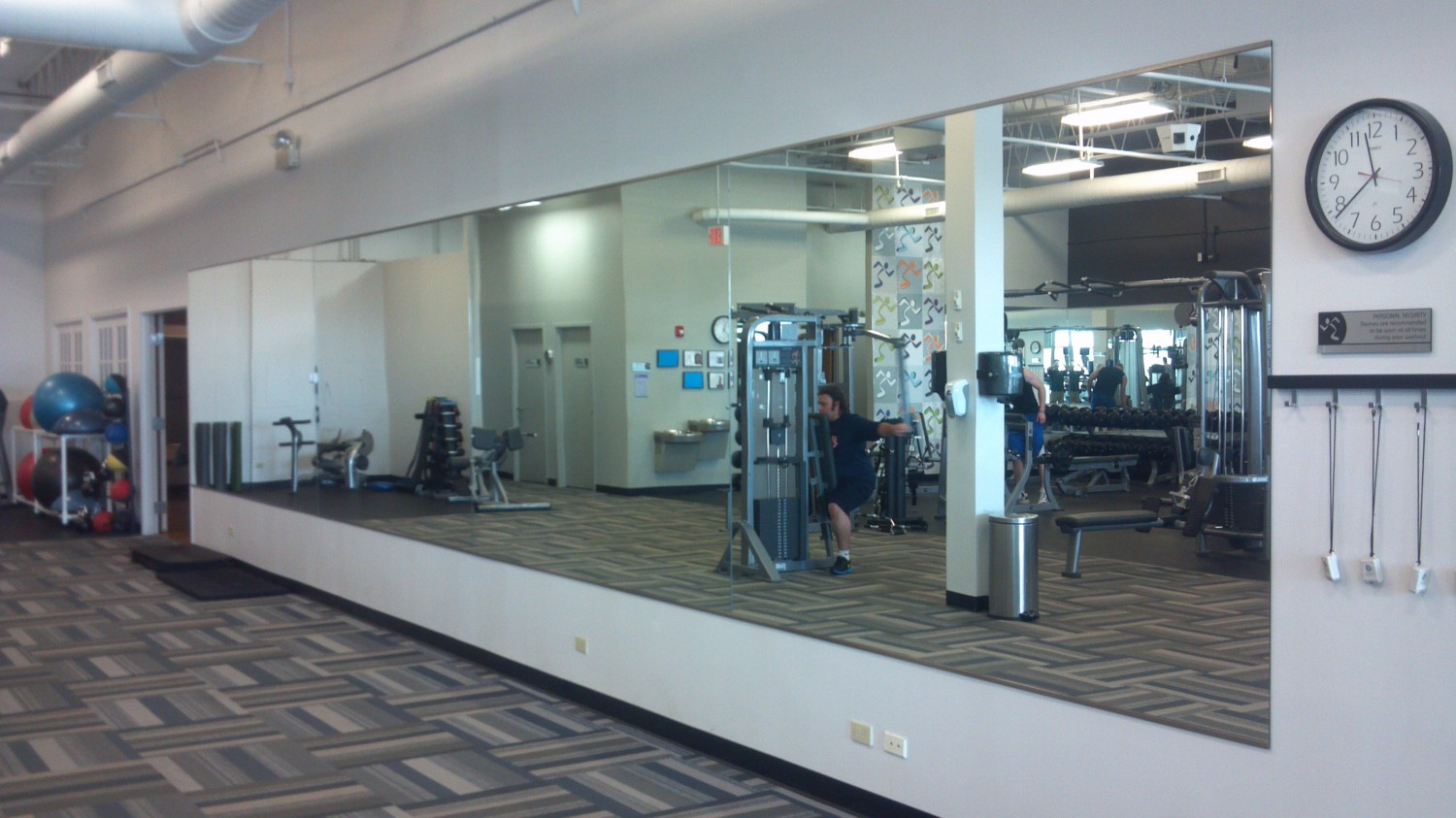 Gym wall mirror