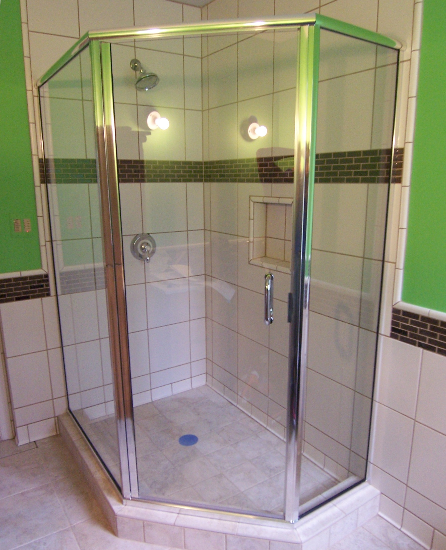 Shower enclosure examples for All glass shower